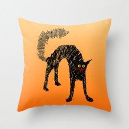 Black Cat 01 Throw Pillow