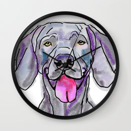 The Weimaraner dog Love of my Life Wall Clock
