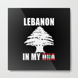 Lebanon in My DNA Metal Print
