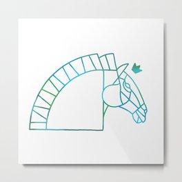 Crowned horse Metal Print