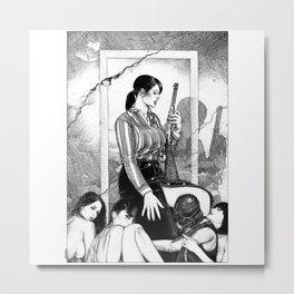 asc 890 - Les filles de la frontière (Wild wild women) Metal Print