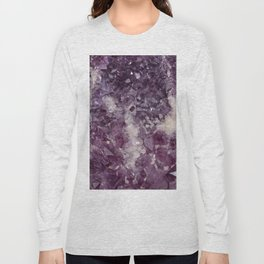 Deep Purple Quartz Crystal Long Sleeve T-shirt