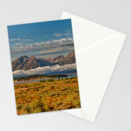 TheGrand Teton National Park in the Fall Panorama Stationery Cards