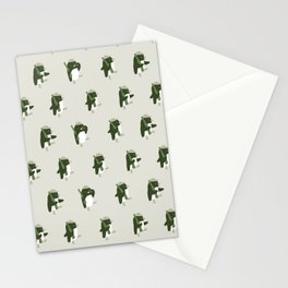March of the Penguins pattern Stationery Cards
