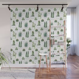 Watercolour Cacti & Succulents Wall Mural