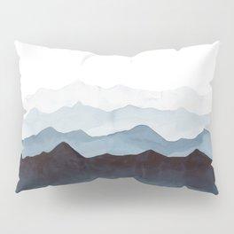 Indigo Mountains Landscape Pillow Sham