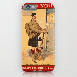 Your King and Country Need You, British Empire iPhone Case