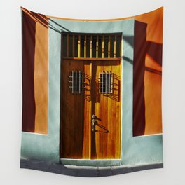 puerto rico house Wall Tapestry