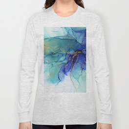 Electric Waves Violet Turquoise - Part 2 Long Sleeve T-shirt