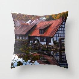 Hammerschmiede am Blautopf Throw Pillow