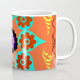 Talavera Tile Orange Coffee Mug