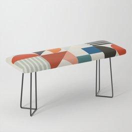 mid century retro shapes geometric Bench