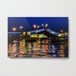 Raising bridges in St. Petersburg Metal Print
