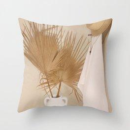 Palm Leaf Decoration Throw Pillow