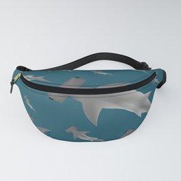 Hammerhead shark school Fanny Pack