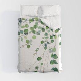 Eucalyptus Watercolor Duvet Cover
