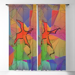 2506 Little cubistic phoenix ... Blackout Curtain