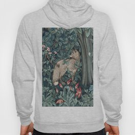 William Morris Forest Fox Greenery apestry Hoody