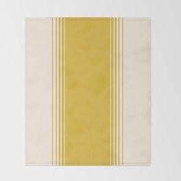 Marigold & Crème Vertical Gradient Throw Blanket