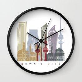Kuwait City skyline V2 poster Wall Clock
