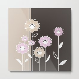 Floral applique . Retro . Metal Print