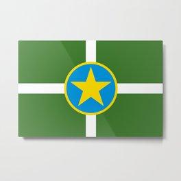 Flag of Jackson, Mississippi Metal Print