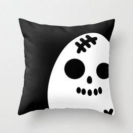 Creepy Egg Skull - Halloween Throw Pillow