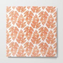 The Fern Orange Metal Print