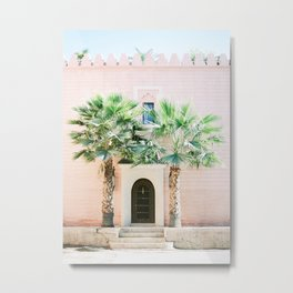 """Travel photography print """"Magical Marrakech"""" photo art made in Morocco. Pastel colored. Metal Print"""
