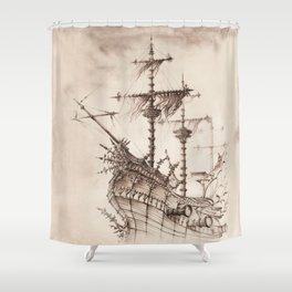 Haunted Ship Shower Curtain