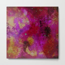 Galaxy in fire colours Metal Print