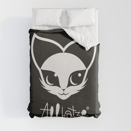 ALLKATZE * Space Cat - Weltraum-Katze - Chat d'Espace Duvet Cover