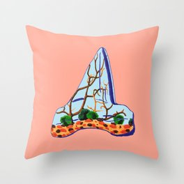 Shark Tooth Terrarium 10 Throw Pillow