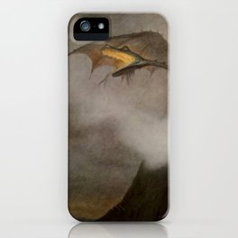 """The Dragon Awakes"" by Theodor Kittelsen iPhone Case"