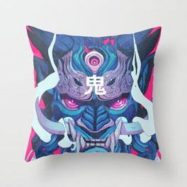 Oni Mask 01 Throw Pillow
