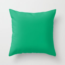 Sesame Street Green - solid color Throw Pillow