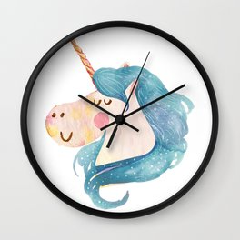 Water color illusion unicorn Wall Clock