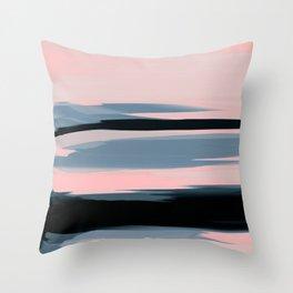 Soft Determination Peach Throw Pillow
