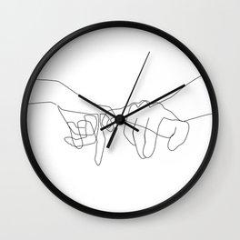 Pinky Swear Wall Clock