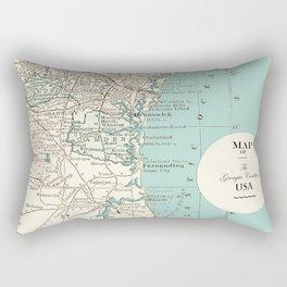 Th Georgia Coastline Rectangular Pillow