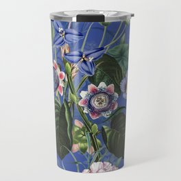 Vintage & Shabby Chic -  Classic Night Blue Exotic Botanical Garden Travel Mug
