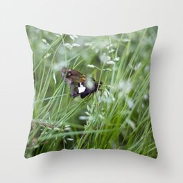 Sliver spotted skipper moth Throw Pillow
