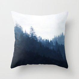 Blue Forest Throw Pillow