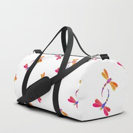 Dragonfly duo - warm pallette Duffle Bag
