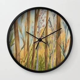 Shimmer Forest Wall Clock