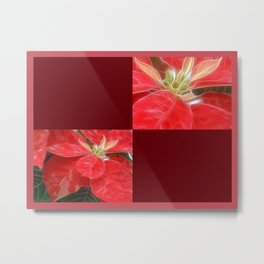 Mottled Red Poinsettia 1 Ephemeral Blank Q10F0 Metal Print