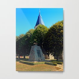 The war memorial of Eggendorf im Traunkreis Metal Print
