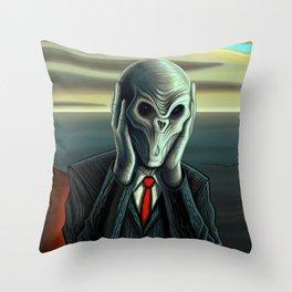 Silent Scream - The Silence Throw Pillow