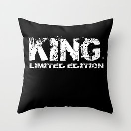 King Limited Edition Gift Idea Partner Design Throw Pillow