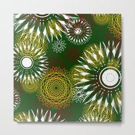 African mandala pattern Metal Print